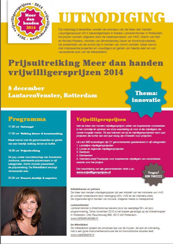Vrijwilligersprijs genomineerd