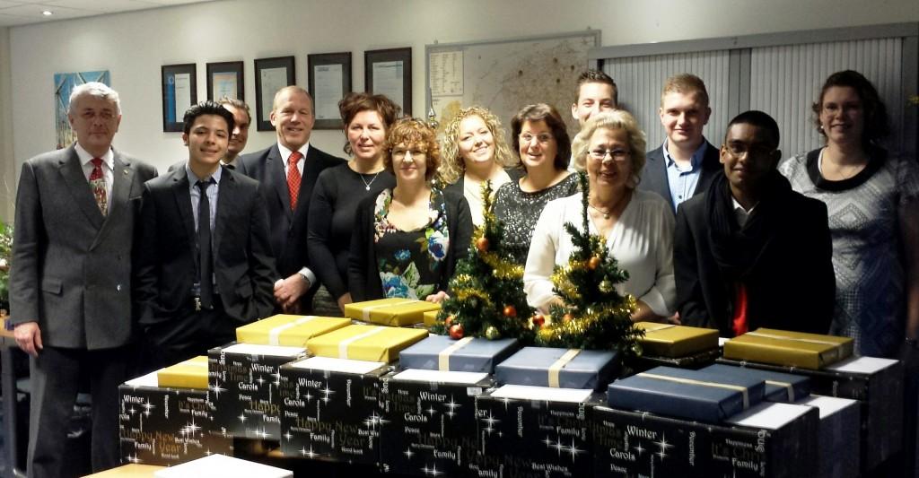 Kerstmis in Alblasserdam, het team voor de particulier