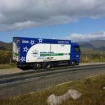 Verhuiswagen van Mondial Movers Henneken in Ierland