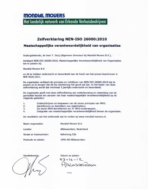 ISO 26000 Mondial Movers