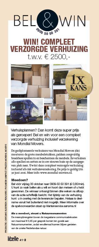 LIbelle Bel&Win Verhuizer Mondial Movers  verhuizing