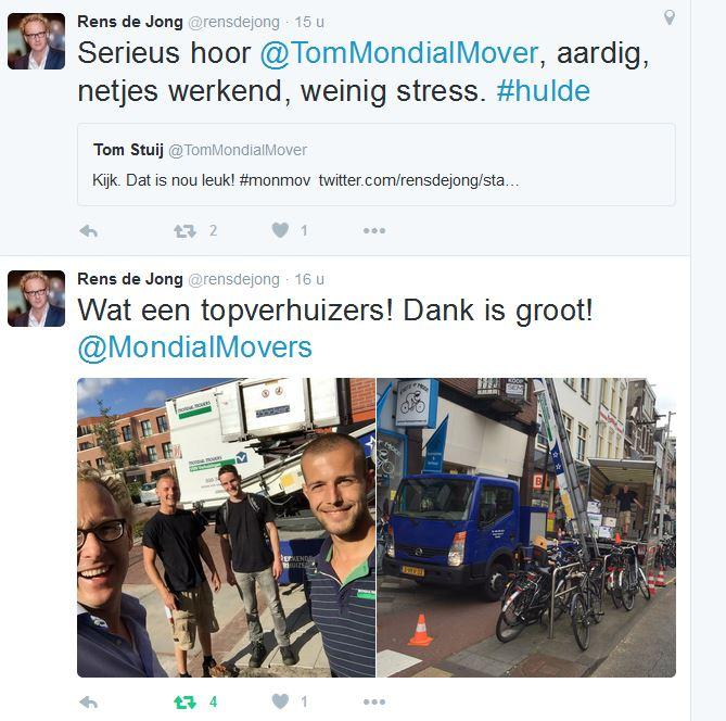 twiietr - Rens de Jong - @rensdejong - verhuizer - Mondial Movers