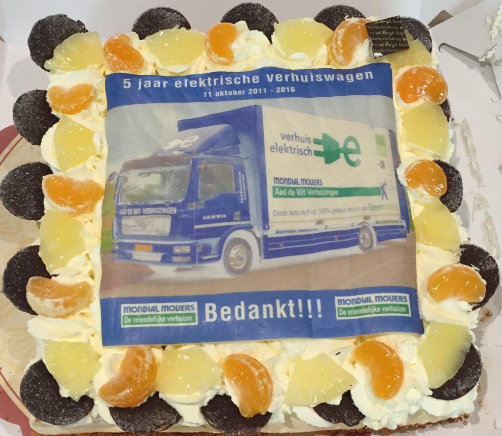 Elektrische Verhuiswagen Mondial Movers Jubileum