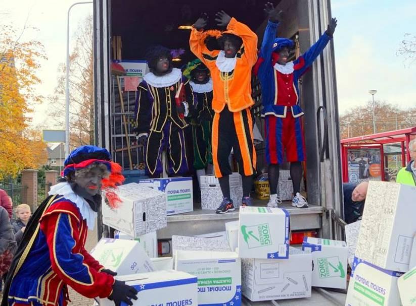 sinterklaas verhuiswagen mondial movers verhuizer