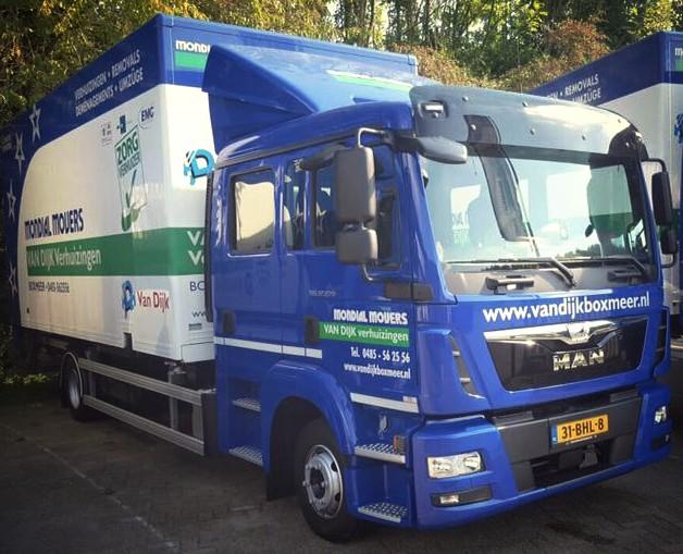 Trots, van Dijk, Euro 6, verhuiswagen, Mondial Movers