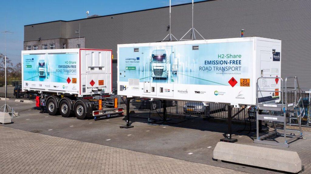 mobiel waterstoftankstation