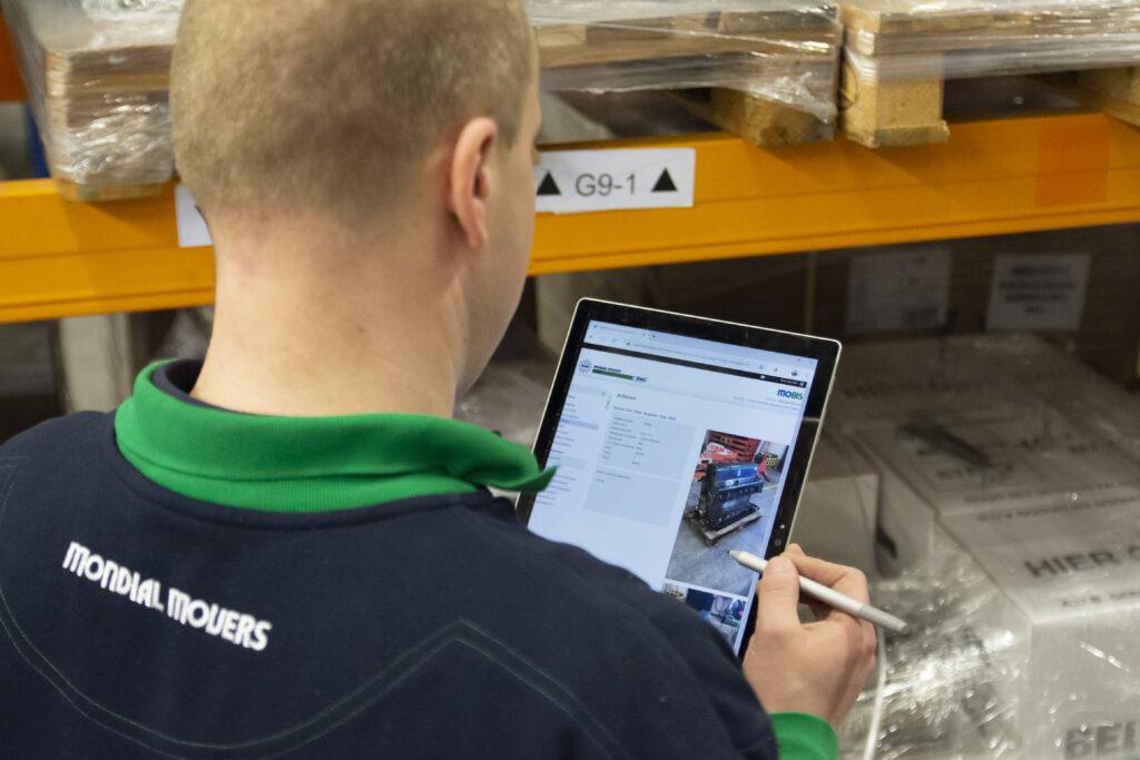 In MoBis wordt de apparatuur die in opslag staat geregistreerd.