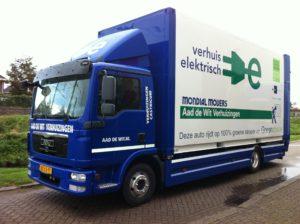 Elektrische verhuiswagen van Mondial Movers Aad de Wit