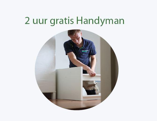 Mondial Movers Aanbieding 2 uur gratis Handyman