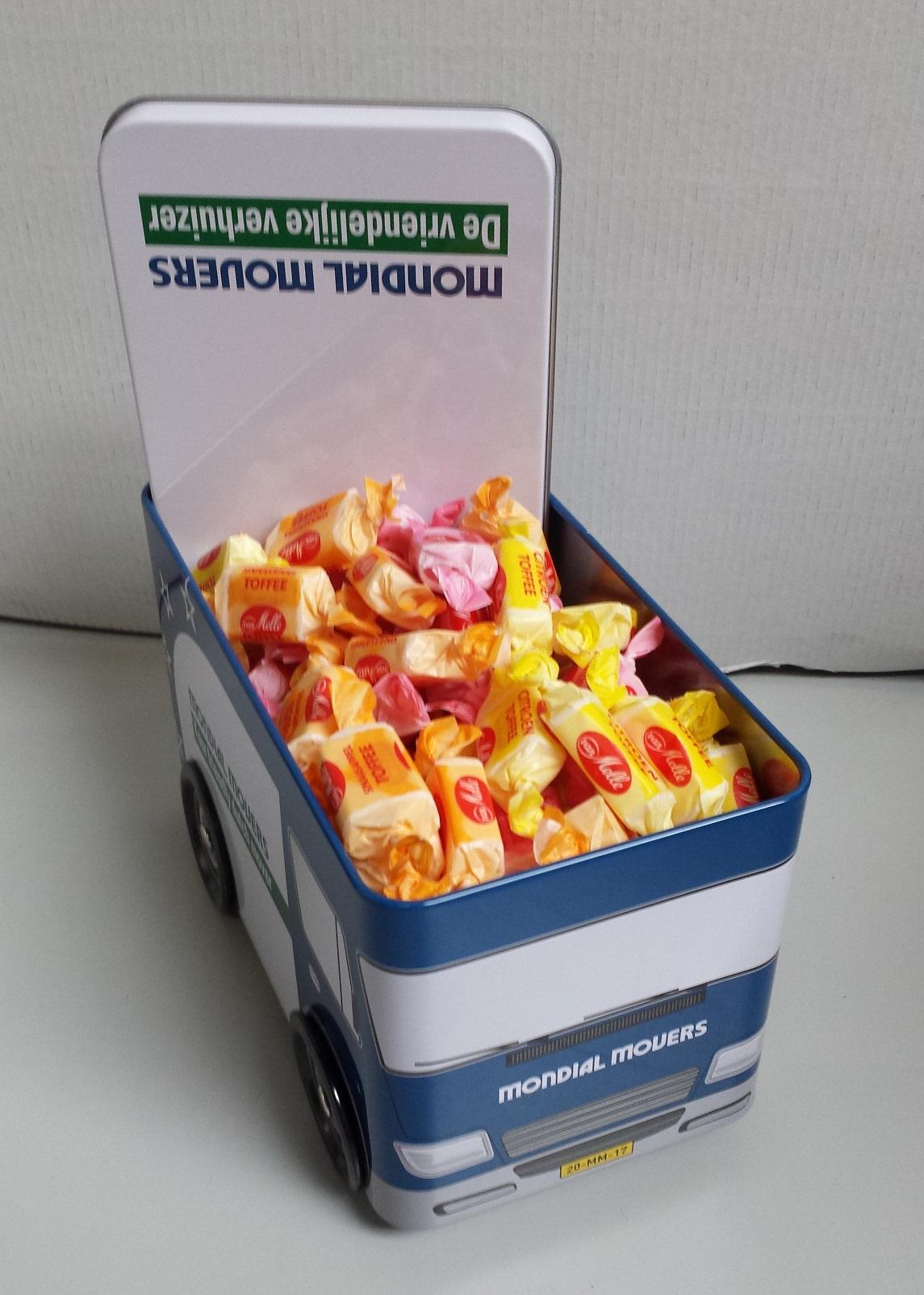 Koektrommel - Fruittoffees - Verhuiswagen