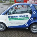 Mondial Movers Smart verhuisauto, klantcontact, Verhuisauto