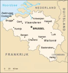 Landkaart België