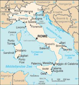 Landkaart Italië