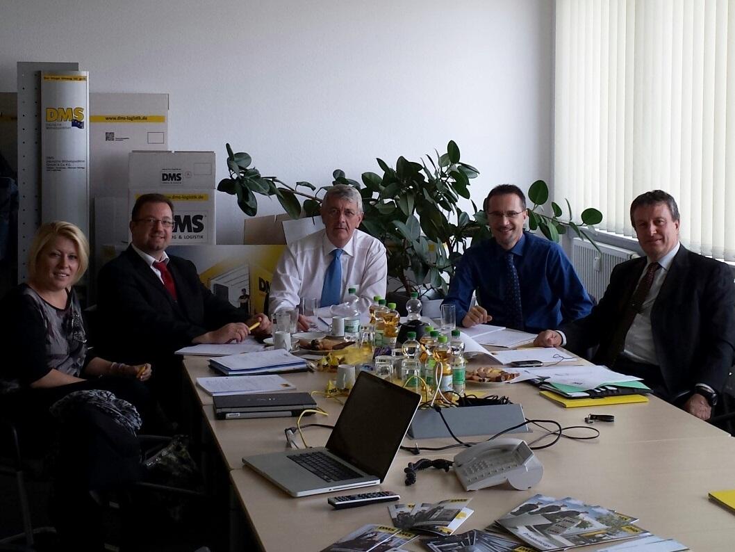 EMG vergadering Berlijn met DMS CNT en Les Gentlemen Verhuizers, EMG mondial movers verhuizer