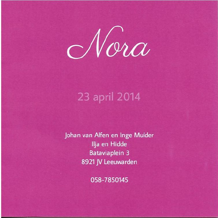 Nora mondial movers