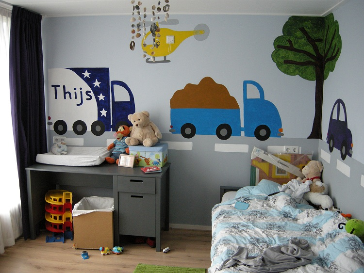 Mondial Movers verhuiswagen in kinderkamer