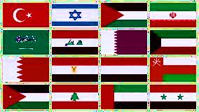 Vlaggen Midden Oosten verhuizen naar het Midden Oosten